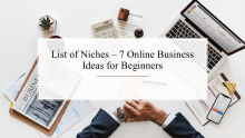 List of Niches 20 Online Business Ideas