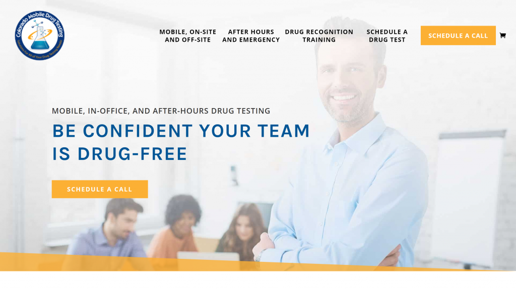 Storybrand website examples - Colorado Mobile Drug Testing